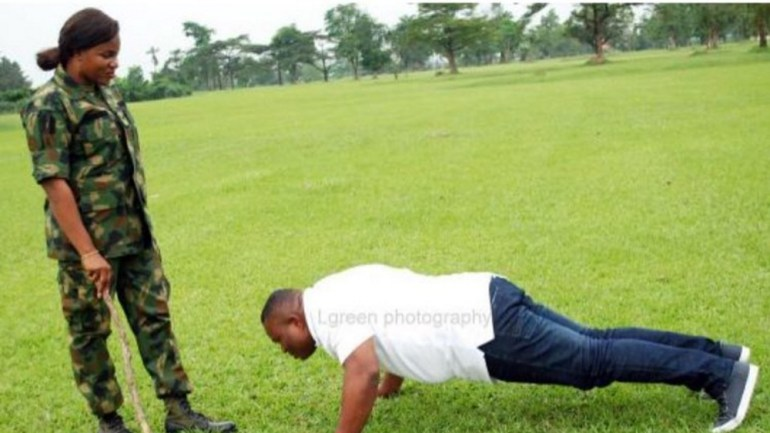 Hereʹs Why Bovi is Pissed About this Soldier and Civilian Inspired Pre-Wedding Photo