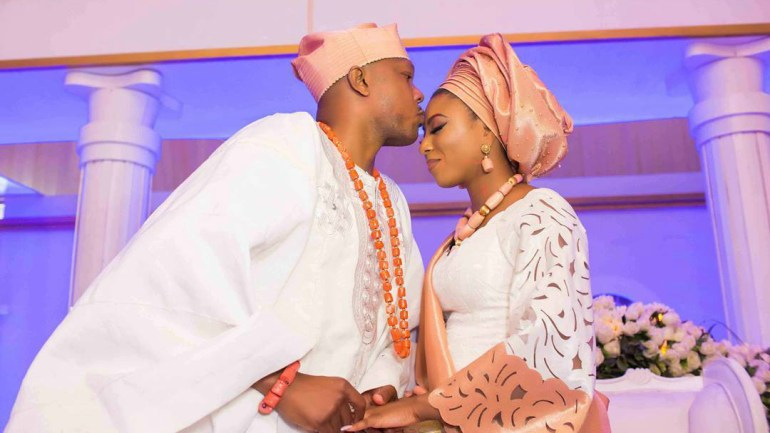 Official Images of Stephanie Coker Traditional Engagement To Olumide Aderinokun Her King