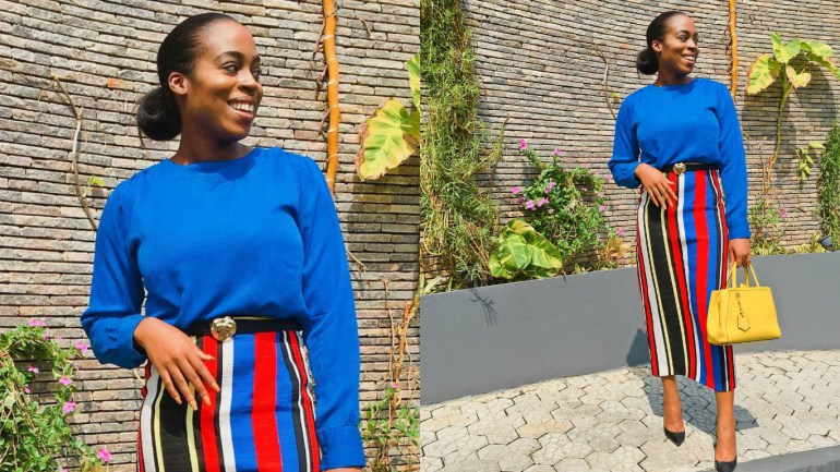 Look Of The Day: Tuesday Blues With Fashion Entrepreneur Zina Anumudu