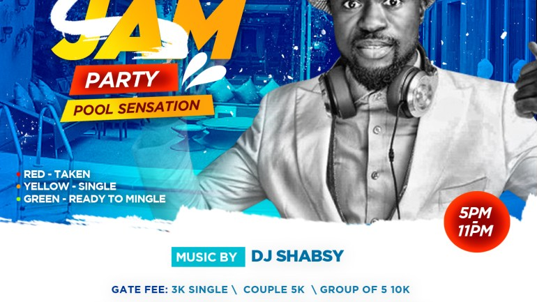 Green='You're Single', Yellow= 'It's Complicated', Red='You're TAKEN'. The 'Traffic Jam Pool Party' On The 18th Of February Is Going To Be Amazing and Kamdora Is Giving Away 5 Tickets!
