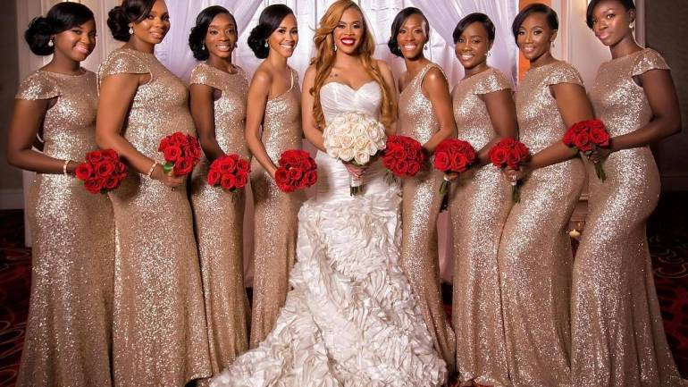 Sequins Are The Latest Wedding Trend For Bridesmaids