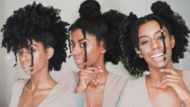 watch this - 3 easy hairstyles for 4c natural hair! | kamdora