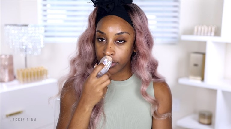 Watch This – Jackie Aina Tries Out The Milk Makeup Blur Stick