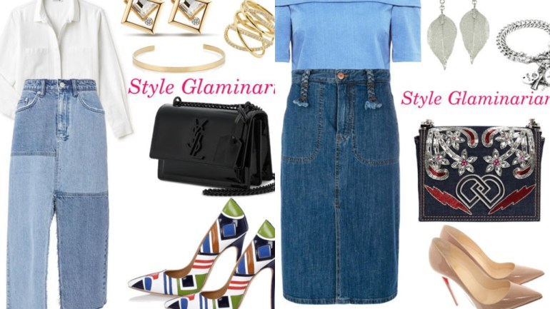 The Style Glaminarian's Pick – Stylish Ways To Wear Denim Skirts
