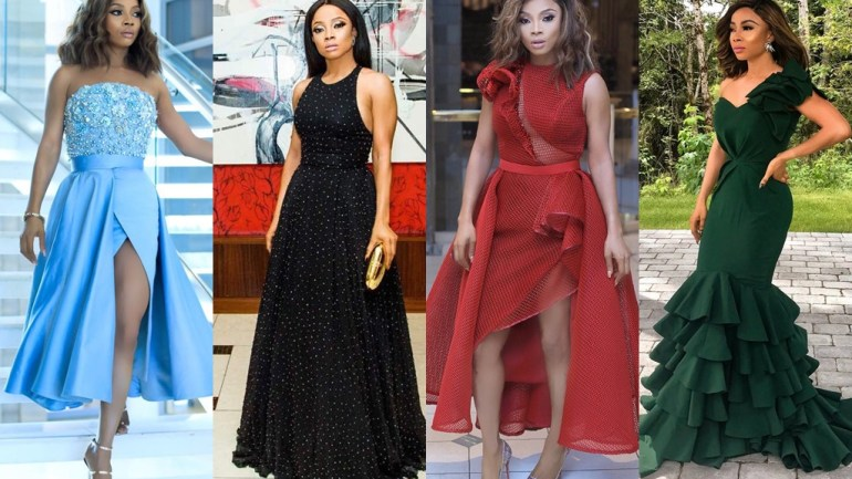 As Toke Makinwa Wins The Glitz Africa Style Infleuncer Awards, We Take A Look Of Some Fave Style Moments Of Her!