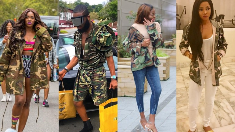 Is Camo The New Black? Tiwa Savage, Toke Makinwa & More Make A Case For It!