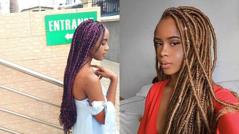 Hair: Mixed Braids, Faux Locs & Single Braids Are Topping Our List!