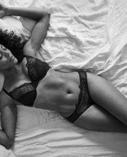 Black girl with underwear picture