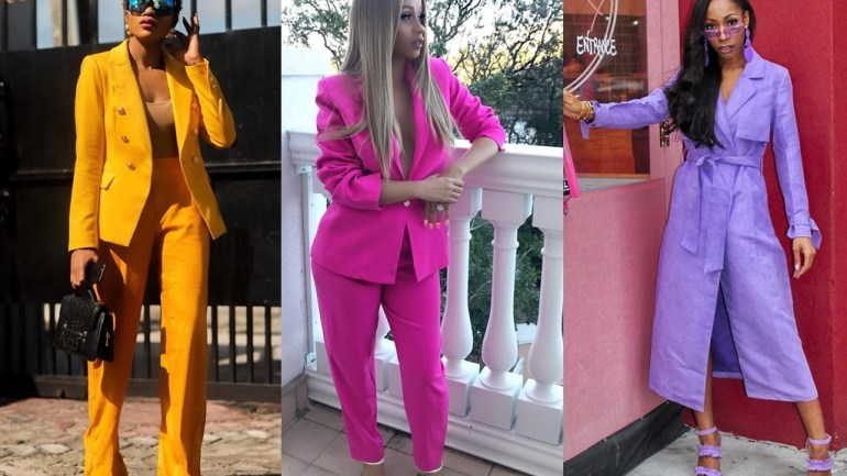 Street Style Trend: Coloured Suit Sets Are The Hottest Outfits Every Cool Girl Needs.