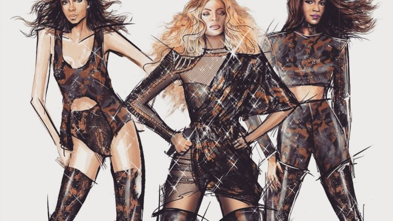 From Illustrations To Life: All The Balmain Costume Beyonce Wore At Coachella By Olivier Rousteing!