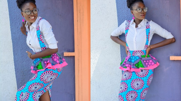 Style With The Average Nigerian Girl – An Ankara Pinafore Skirt