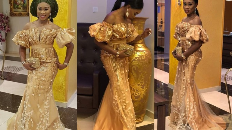 Aso-Ebi Styles #134: Dripping In Gold!