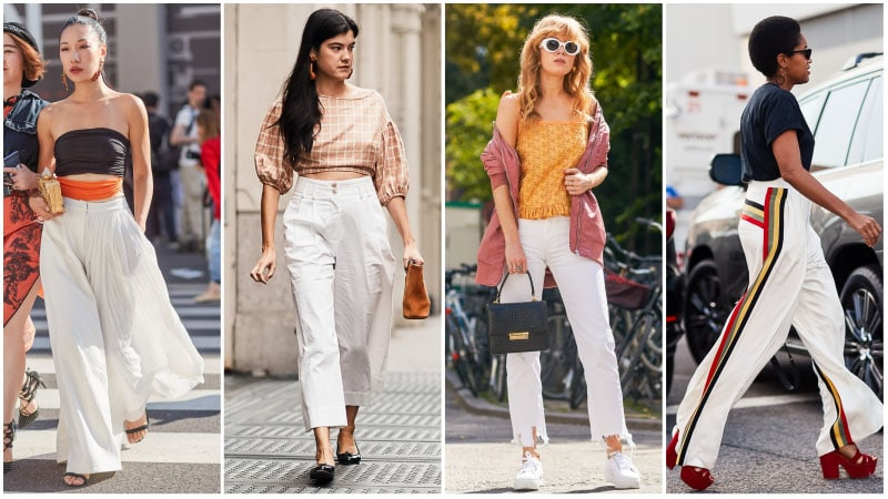 3b12263393b Summer White Pant Outfits- One secret we don t know is that
