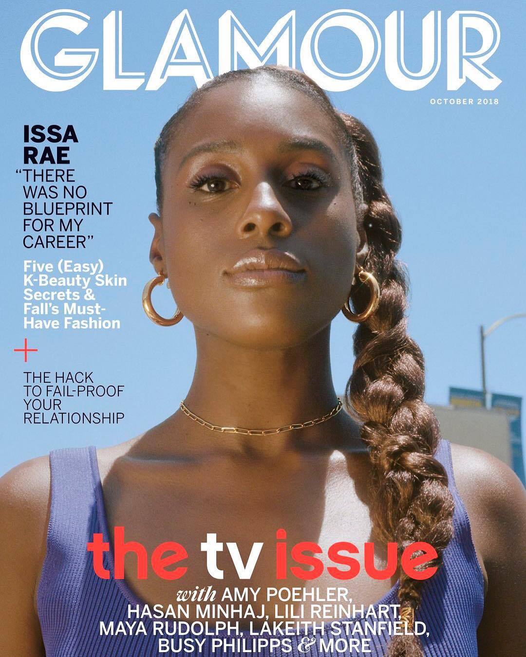 Issa rae poses on the cover of glamour magazine tv issue kamdora on her uncertainity about her future in entertainment the embarrassment came from making a youtube series while all of my friends were being doctors malvernweather Gallery