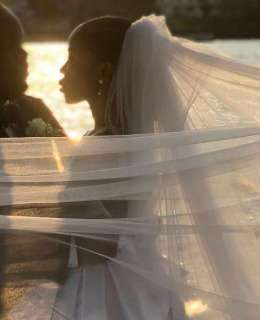 Pictures From Lala Akindoju And Chef Frez's White Wedding