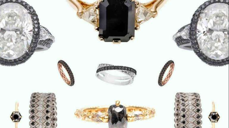 5 Black Wedding Rings Perfect For October Brides