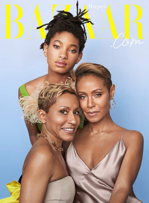 Three Generation, One Cover! Jada Pinkett Smith, Willow Smith And Adrienne Banfield-Norris Are The Cover Stars For Harper's Bazaar Cover