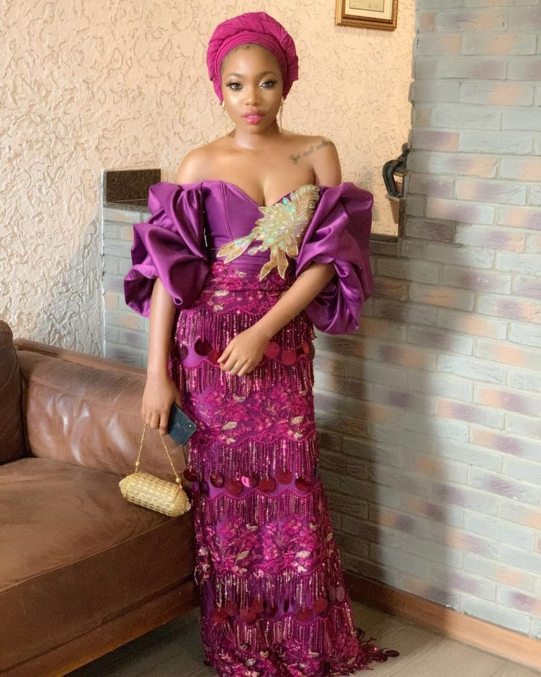Aso Ebi Styles #143: Magenta Is The New Cool!