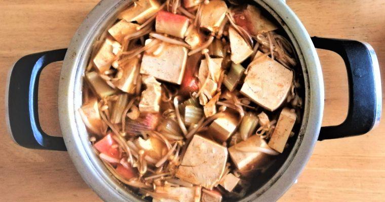 Comforting gochujang tofu soup