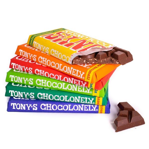 Kamellebuedchen Shop Lakritz Fudge Schokolade Tonys Chocolonley Stapel angebrochen