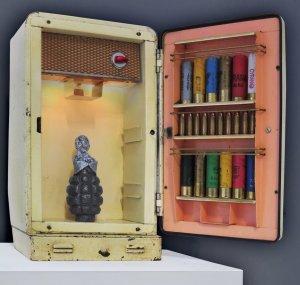 Gerçures d'enfance oeuvre artiste contemporain Kamel Yahiaoui