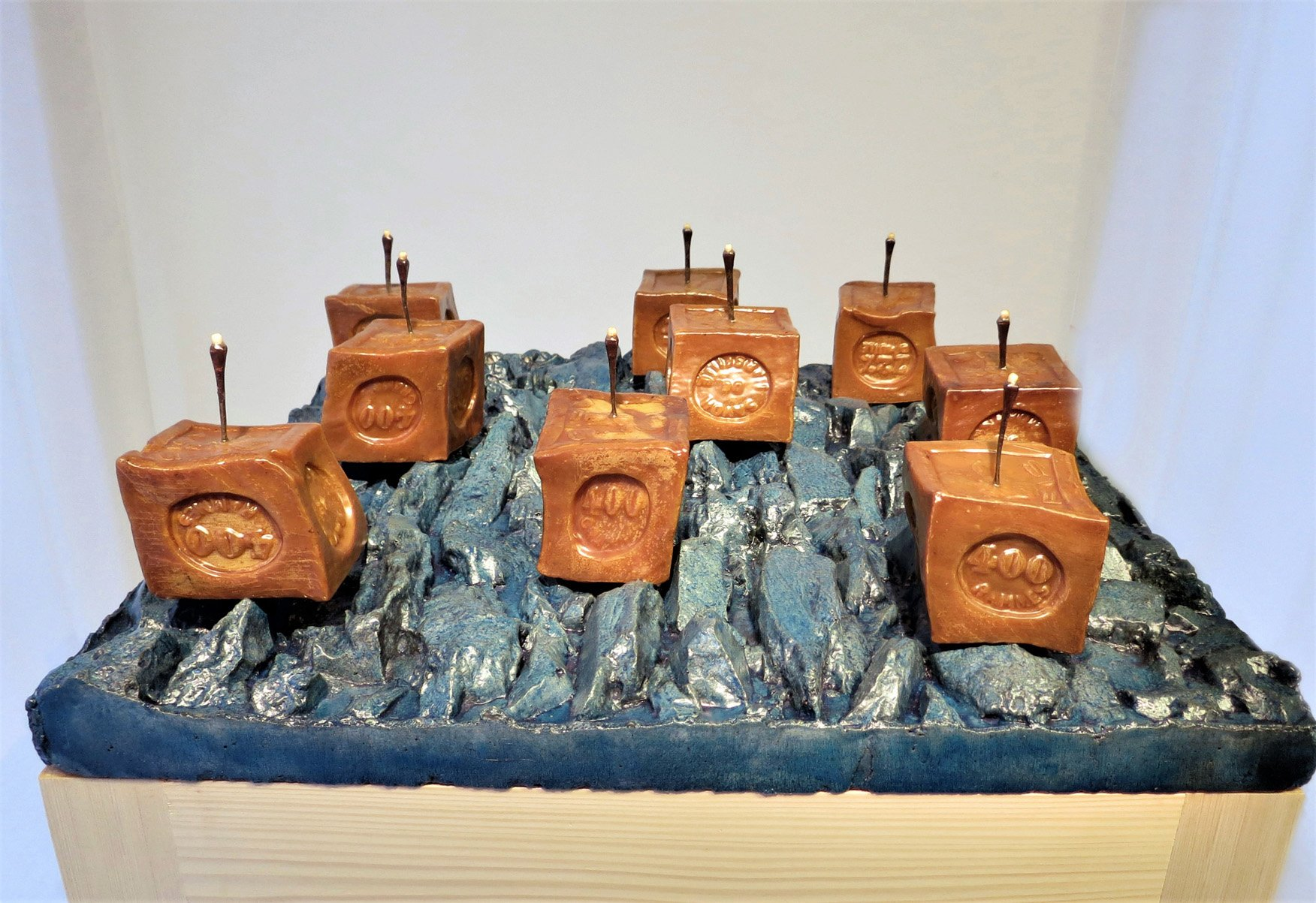 Le manifeste des vagues oeuvre artiste contemporain Kamel Yahiaoui