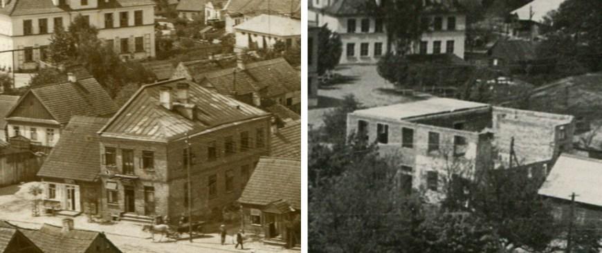 Пекарня и строящаяся библиотека в 1967 году