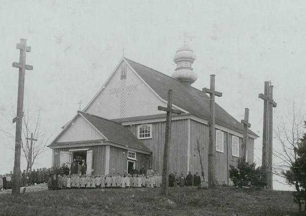 Деревянный Симеоновский храм. Около 1900 года.