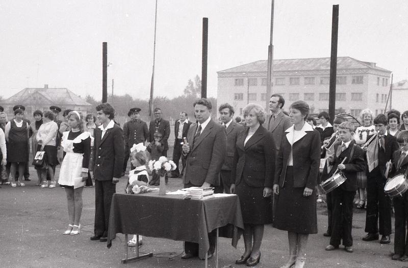 Лінейку адкрывае новы дырэктар Міхаіл Канстанцінавіч Саевіч, 1980 год
