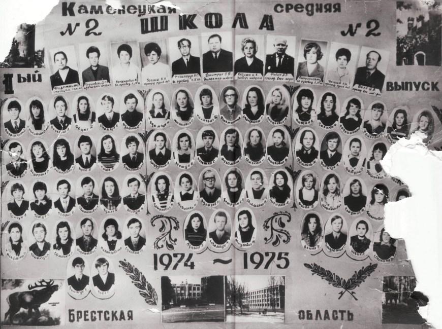 Выпускной фотоальбом, 1975 год