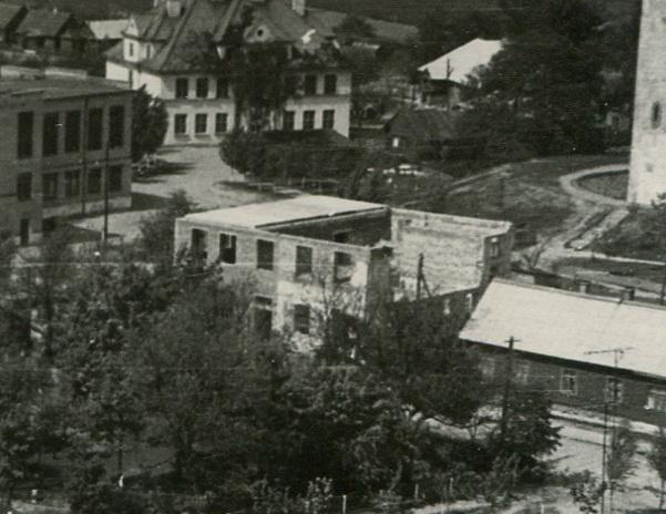 Перестройка пекарни в библиотеку в 1967 году
