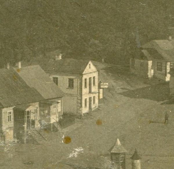 Белый, как башня, дом в 30-е годы
