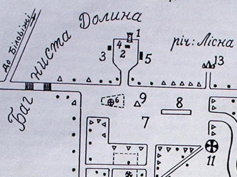 Схема Каменца по состоянию на 1939 год, сделанная Григорием Мироненко