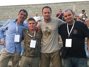 Prijatelji u Kninu: Saša Maras, Joe Šimunić, Velimir Bujanec i Domagoj Mendeš