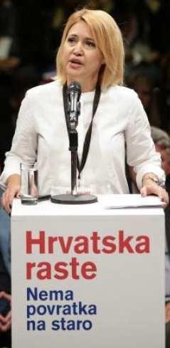 'Nemamo se čega sramiti' Ministrica Milanka Opačić podsjetila je na riječi koje je govorio prvi predsjednik Ivica Račan. (foto pixsell)