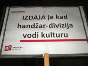 Autor-slika-Dinko-Bradvica-Trg-sv-Marka-prosvjed-Radnicke-Fronte