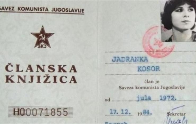 Partijska knjižica Jadranka K.