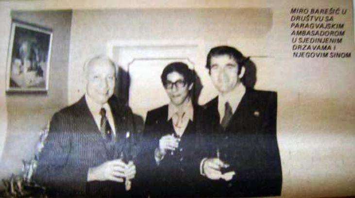Miro Barešić u Americi s paragvajskim ambasadorom i njegovim sinom, u vrijeme turnira u karateu u kojemu je pobijedio jugosalvenskog predstavnika Antu Nobila.