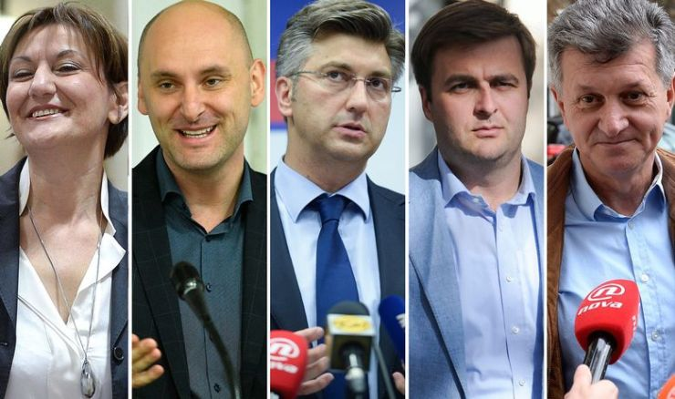S lijeva na desno: Martina Dalić, Tomislav Tolušić, Andrej Plenković (mandatar), Tomislav Ćorić, Milan Kujundžić
