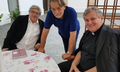 TRI HRVATA - Otac biskup Vlado Košić, Slobodan Novak Prosperov i Božidar Alić u Sisku