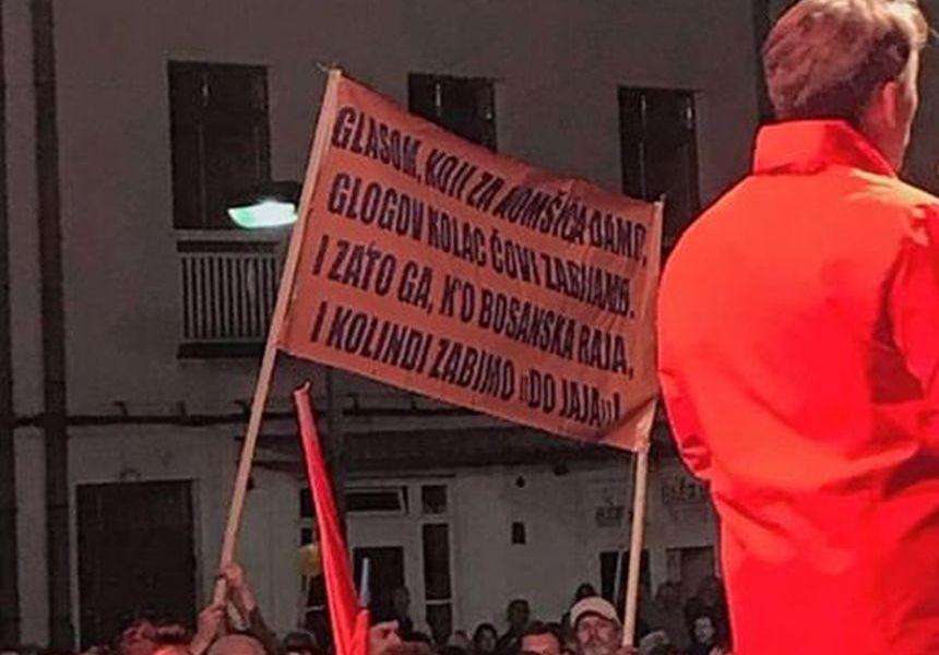 Nova TV dominiše u BiH Komsic-plakat