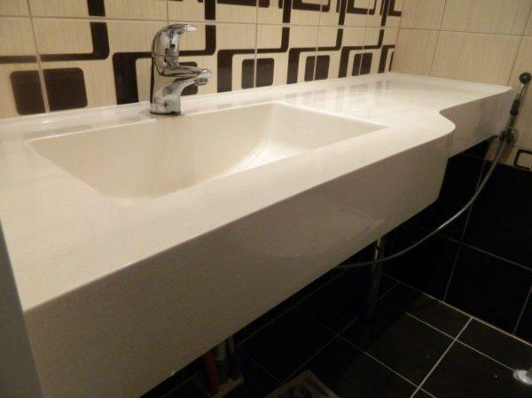 Столешницы для ванной Изделия из искусственного камня в