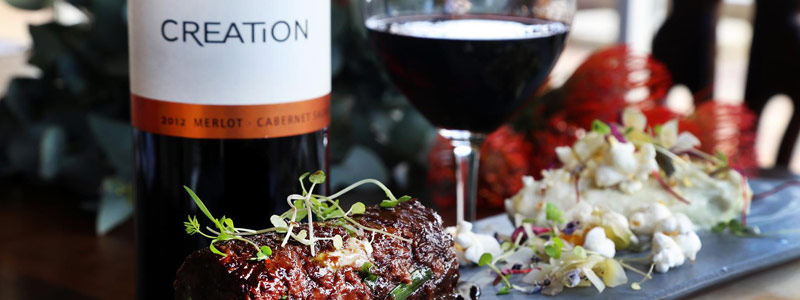 Creation food and wine at KAMERS Hermanus