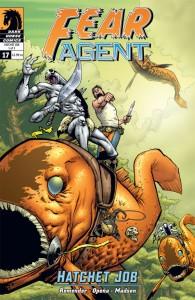 """""""Fear Agent"""" (okładka zeszytu #17)"""