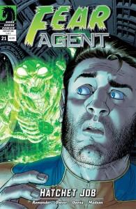 """""""Fear Agent"""" (okładka zeszytu #21)"""