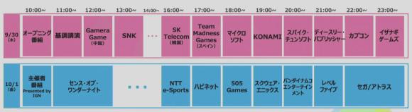TGS2021 タイムスケジュール