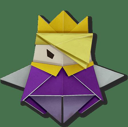 キング 折り 方 オリガミ