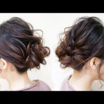 ☆簡単なかわいいまとめ髪のヘアアレンジ!初級レベル!三つ編み2本でできます!hairdo 头发安排 การจัดเรียงผม 헤어 어레인지