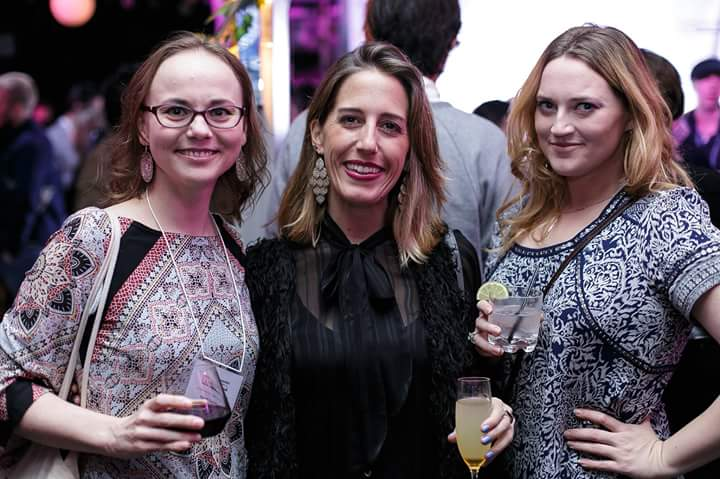 NYC Indie FF Awards Night: With Florencia Iriondo, Exec Producer, NYC, and Cara Bamford, Producer, Foxrock Productions, UK. Photo by Carlos Otero