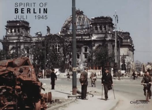 Poválečný Berlín - barevné dokumentární video